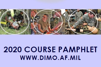 Graphical link to download the latest DIMO course pamphlet.